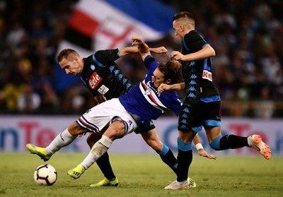 Sampdoria frena a Napoli