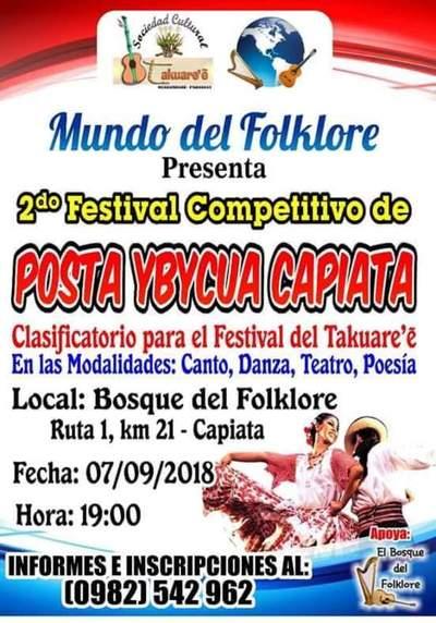 Invitan a segunda edición de Festival Posta Ybycuá