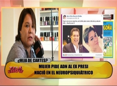"""Maria Silvia reafirma que es hija de Horacio Cartes: """"La gente me pregunta por qué me parezco a Sol Cartes"""""""