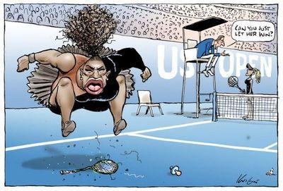 Críticas a un dibujante australiano por caricatura de Serena Williams