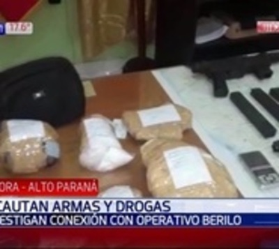 Incautan armas y drogas tras nuevo operativo en Ciudad del Este