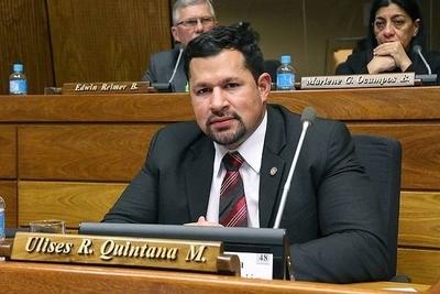 """HOY / Diputado colorado pide tratar  ya desafuero de Quintana, """"y  ni siquiera tratar de defender"""""""