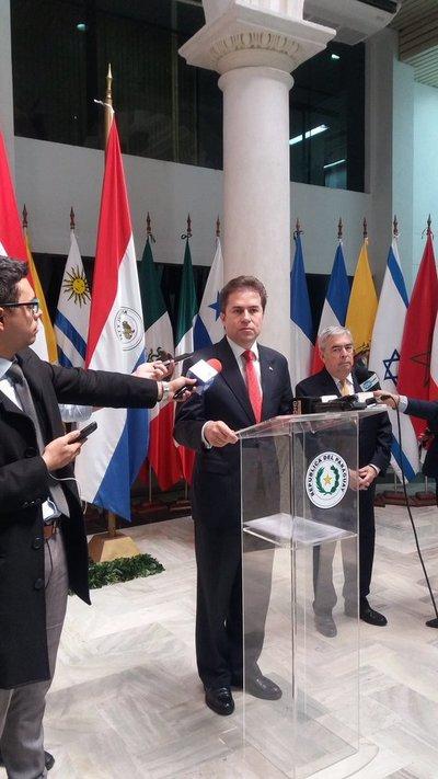Castiglioni anunció decisión de restablecer embajada paraguaya en Tel Aviv