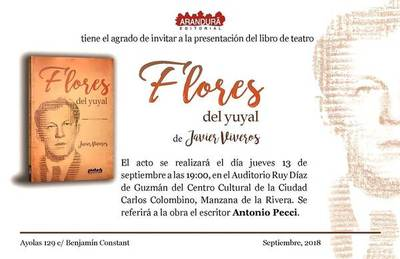 José A. Flores es tema de la primera obra teatral de Javier Viveros