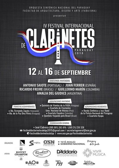 Prosigue en la fecha el Festival Internacional de Clarinetes