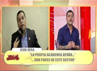 """Tensión en """"TeleShow"""": Juan Vera criticó """"Las Herederas"""" y panelistas lo cruzaron"""