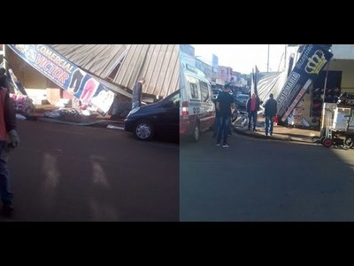 COMERCIANTES SE SALVAN DE MILAGRO: APARATOSO ACCIDENTE EN EL CIRCUITO COMERCIAL