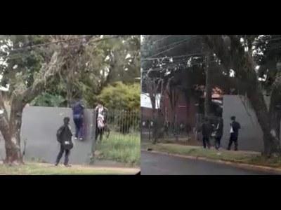 El ingenio para evitar horas de clase: Filman a alumnos del CREE fugándose de la institución