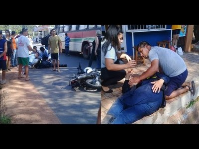 Brutal choque deja dos policías heridos