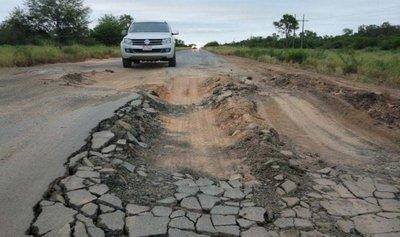Urge reconstrucción de la Ruta Transchaco