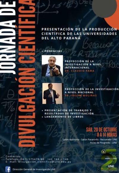 Primera Jornada de Divulgación Científica del Alto Paraná