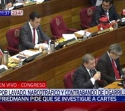 Senadores frenan pedido de investigación contra Cartes