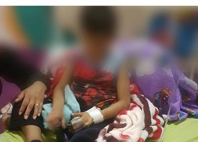 Niño queda hospitalizado tras brutal golpiza de su padrastro