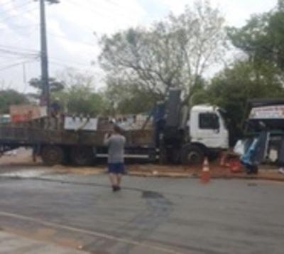 Grave accidente deja una mujer herida en San Lorenzo