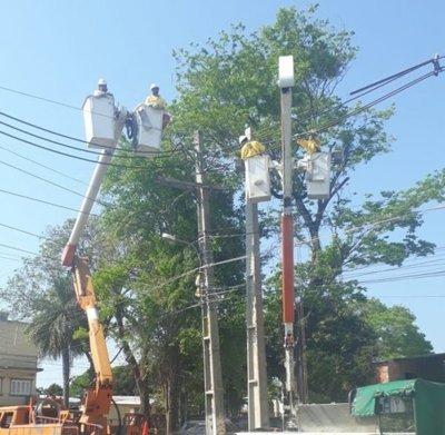 Cortes en el área Metropolitana ya están bajo control, según la ANDE