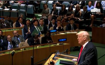 Trump dice en la ONU que el presidente de Venezuela podría ser derrocado