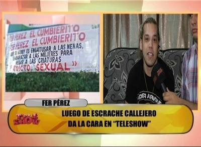 Fer Pérez se refirió al escrache callejero del que fue victima