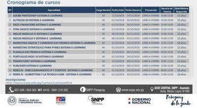 SNPP: Cursos online para octubre