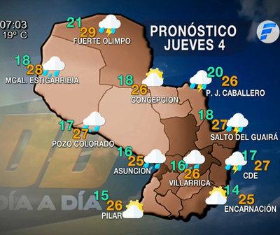 Fresco amanecer con lluvias en el norte y este del país
