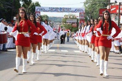 El domingo se realizará el desfile en honor a la ciudad de Coronel Oviedo – Prensa 5