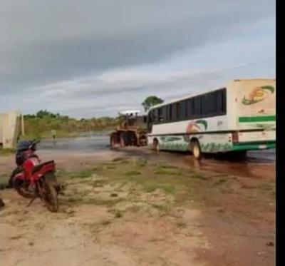 Caminos destruidos por lluvias aíslan a distritos en Concepción