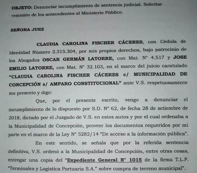 Periodista denuncia incumplimiento de sentencia judicial