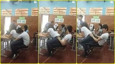 Vídeo-Colegiantes takuchilos simulan sexo en plena aula de clases en CDE.