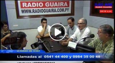 Candidatos de Patria Querida visitaron Radio Guairá