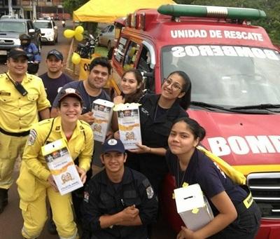 Colecta de Bomberos Voluntarios con meta de G. 150 millones movilizó a varios jóvenes