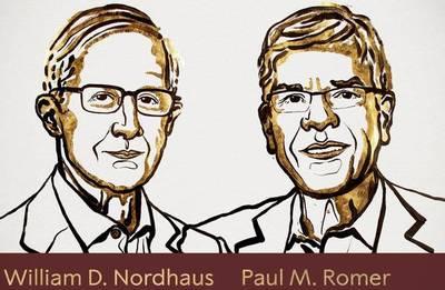 William D. Nordhaus y Paul M. Romer ganan el premio Nobel de Economía de 2018