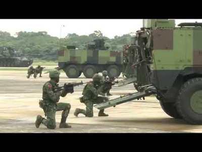 VIDEO: Marito presencia impactante ejercicio militar en Taiwán