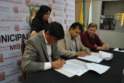 Firman convenio de cooperación en Ayolas