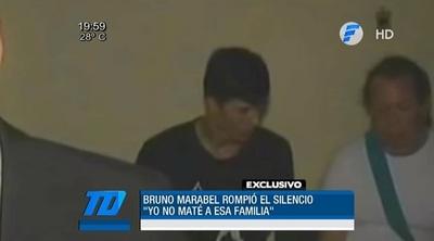 Bruno Marabel asegura que no confesó y dice que es inocente