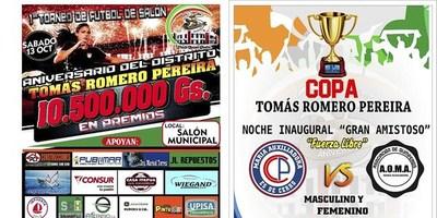 A 3 DÍAS DEL PRIMER TORNEO DE FÚTBOL DE SALÓN COPA  TOMÁS R. PEREIRA.