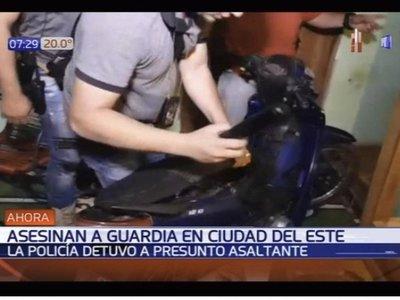 Detienen a un menor por crimen de guardia de seguridad en Ciudad del Este