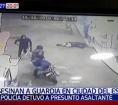 Capturan al presunto asesino de un guardia de seguridad en CDE