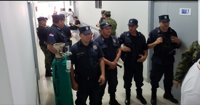 Maxima seguridad para resguardar a Chilavert