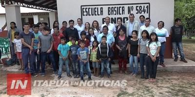 EMOTIVA INAUGURACIÓN DE MEJORAS EN ESCUELA INDÍGENA DE LA COMUNIDAD PINDÓ