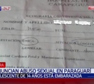 Denuncian violación y embarazo de adolescente de 14 años