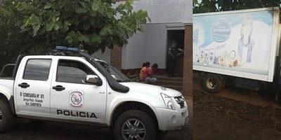 MOTOCHORROS ASALTAN CAMIÓN REPARTIDOR DE LÁCTEOS EN BARRERO GUAZÚ
