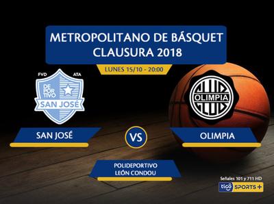 San José vs. Olimpia es la cita esta noche