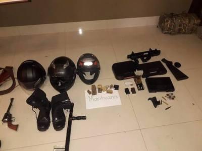 Realizan dos allanamientos contra el crimen organizado en Pedro Juan