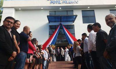 Inauguran nuevo edificio de Junta Municipal de Presidente Franco