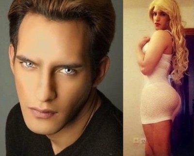 Fotos como travesti  son trucadas he'i
