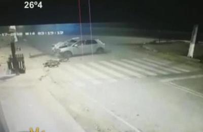 Liberan imágenes del fatal accidente ocurrido en Acceso Sur