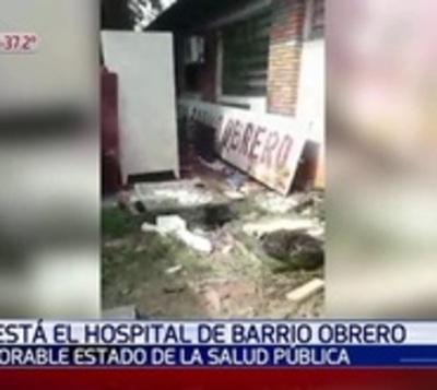 Cloacas y basuras acechan el Hospital de Barrio Obrero