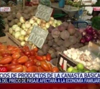 Canasta familiar: Frutas y verduras aumentaron de precio