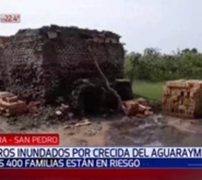 Cuatrocientas familias sin trabajo tras crecida de río en San Pedro