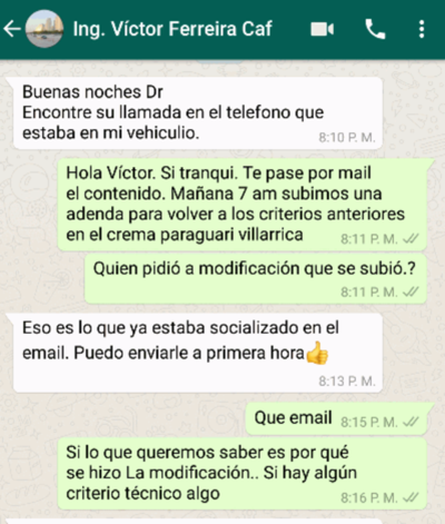HOY / Por 'culpa' de un WhatsApp  viceministro o su mano derecha  (o ambos) a punto de ser echados