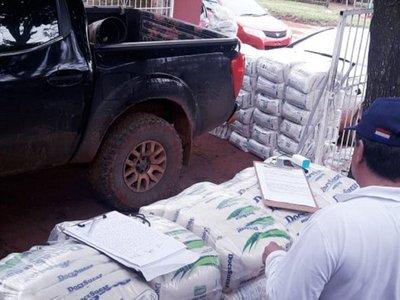 Incautan 2.500 kilos de azúcar que serían de contrabando en Curuguaty